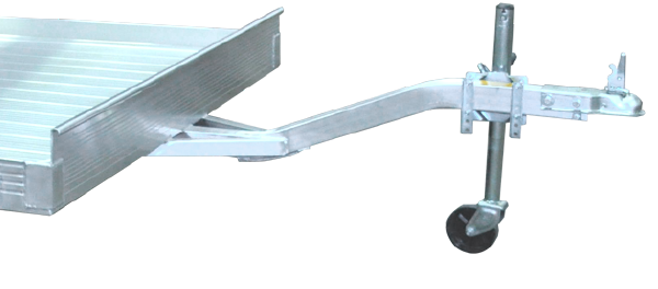 Formed and Hardened Tongue for aluminum trailer