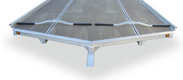 Marine grade snowmobile trailer board