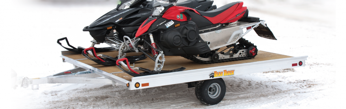 heavy duty lightweight snowmobile trailer