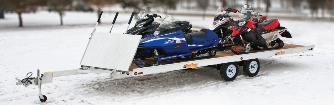 Four sled snowmobile trailer for sale