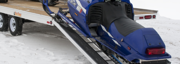 Heavy duty aluminum safeguard snowmobile ramp