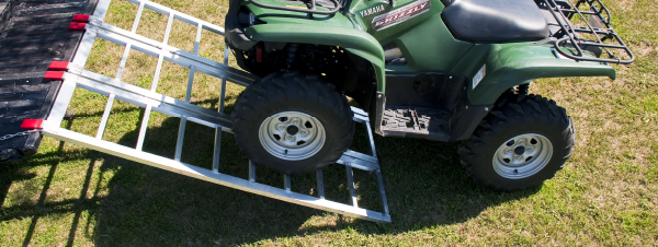 Weight distribution aluminum ATV ramp