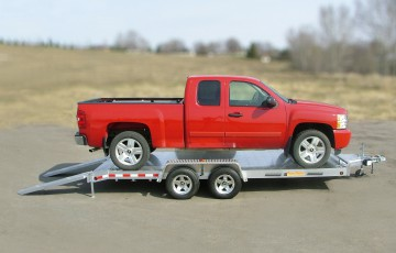 Car Hauler Pick-up Truck Trailer / Ramp