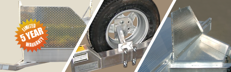 Trailer ramp parts and accessories five year warranty