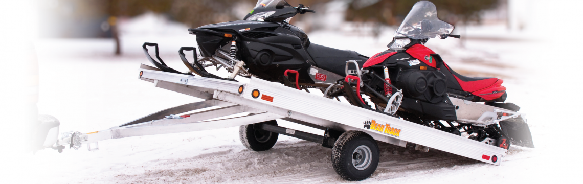 Heavy duty pull behind snowmobile trailer for sale