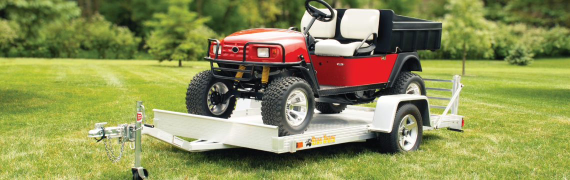 Pull-behind golf cart trailer for sale