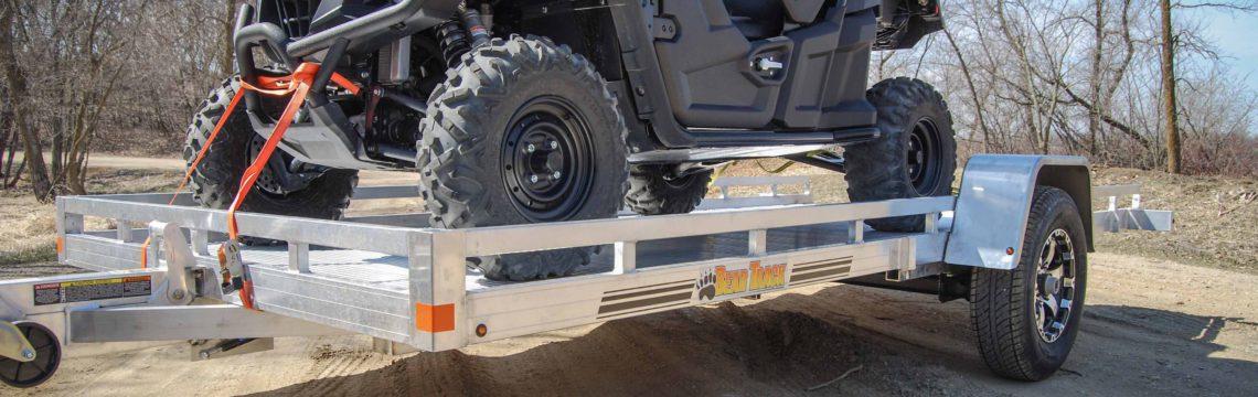 HD Aluminum Tilt Utility ATV Trailer