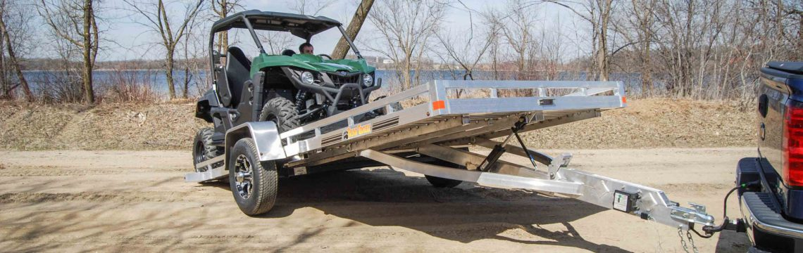 Aluminum HD Tilt Utility Flatbed Trailer For Sale